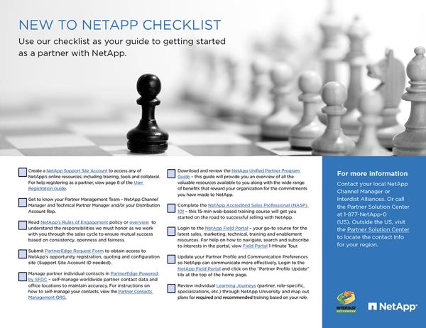 On Board with NetApp Checklist